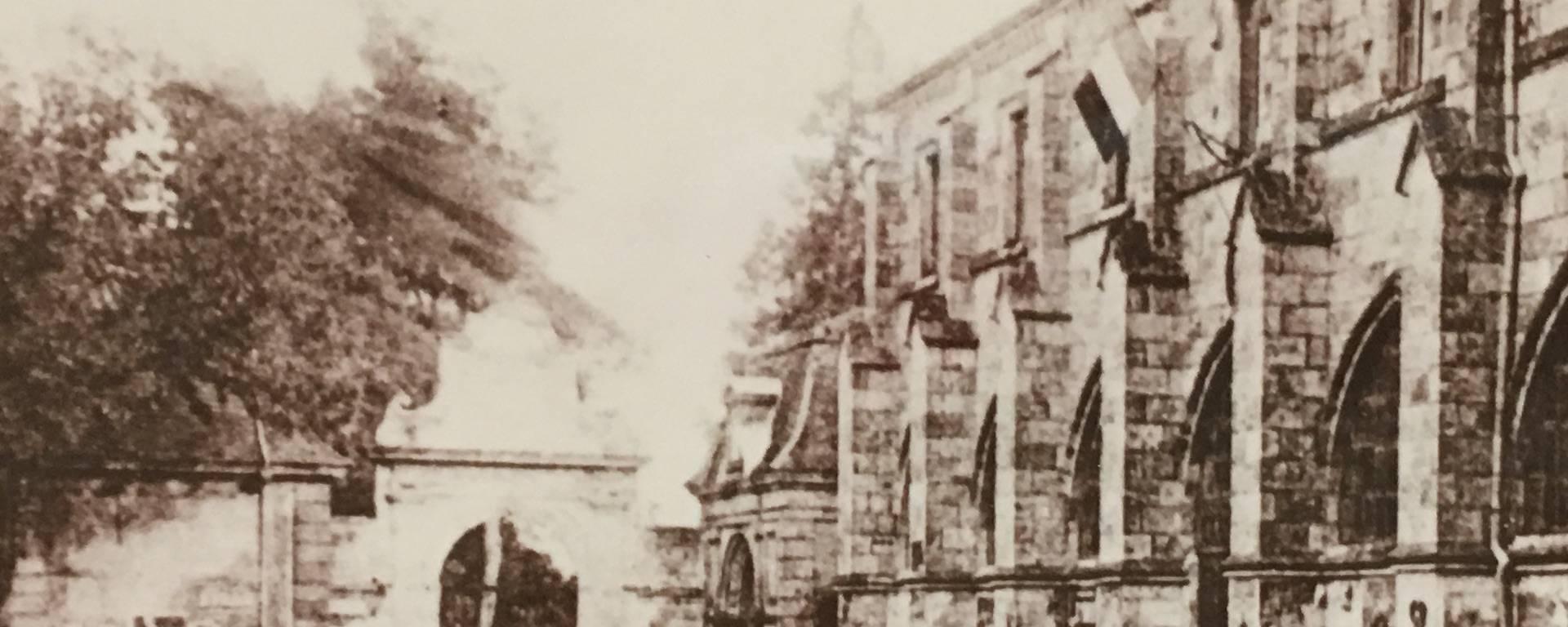 Former bishopric of Condom - old photo Fenestra