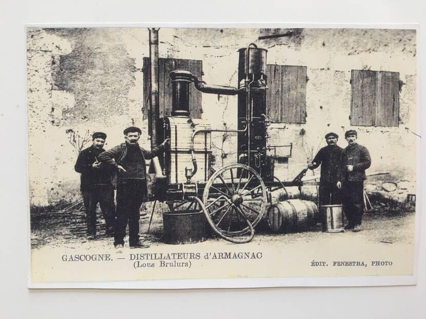 Travelling distiller - Old photo Fenestra