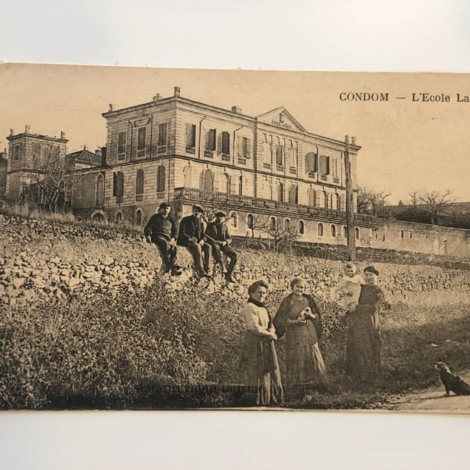 Mansion of Polignac - old photo Fenestra
